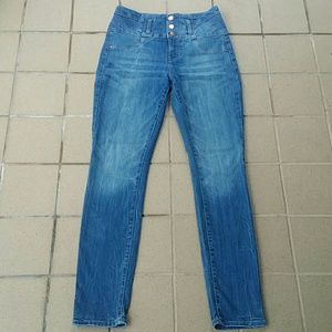 High Waist Skinny Stretch Refuge Jeans, Size 8